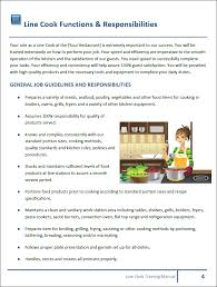 kitchen manual template restaurant manual templates