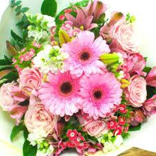 flowers bouquet pink mix flowers bouquet delivery florists wellington nz