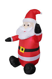 amazon com 4 foot christmas inflatable santa claus blow up yard