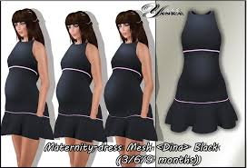 second marketplace maternity dress mesh dina black 3 6 9