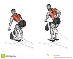 T Shaped by Exercising Thrust T Shaped On The Back Muscles In The Slope Stock