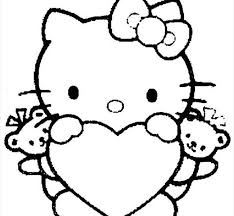 inspirational free printable kitty coloring pages 91