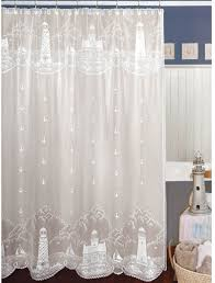 lighthouse shower curtain by heritage lace anchors lighthouse motif