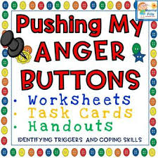 pushing my anger buttons worksheets and task cards by mental fills