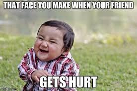 Hurt Meme - evil toddler meme imgflip