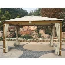 tende gazebi gazebo in legno mod santorini 3x4 mt con tende parasole laterali
