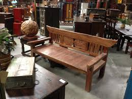 rustic wood benches in san diego new antique and recycled