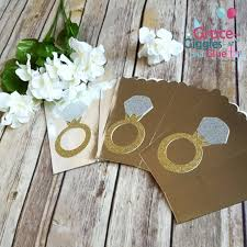 engagement favors 10 gold or silver glitter diamond ring themed favor boxes bridal