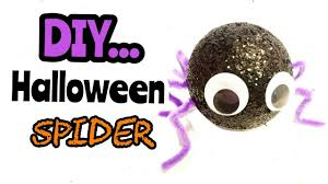 diy how to make a halloween spider easy kids project youtube