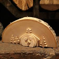 traditional wooden nativity scene nest scene and traditional