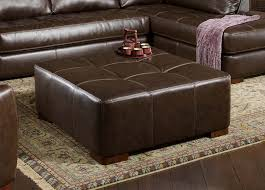 Brown Leather Ottoman Coffee Tables Astonishing Wonderful Square Brown Leather Ottoman