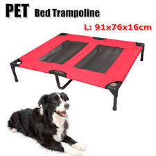 large pet dog bed trampoline cat puppy hammock canvas cover heavy