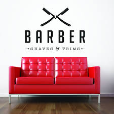 amazon com vinyl wall decal sticker bedroom barber shop company amazon com vinyl wall decal sticker bedroom barber shop company name hair scissors r1519 home kitchen