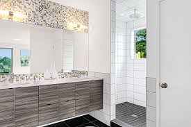 bathroom mosaic tiles ideas ideas grey glass mosaic tile backsplash with metal kitchen sink