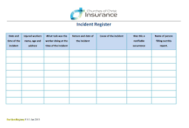 incident report register template incident report register template awesome forms of incident report register template jpg