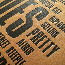 letterpress printing like a rolling letterpress print by wasted wounded