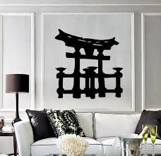 torii asian temple japan japanese gates decor wall art mural vinyl torii asian temple japan japanese gates decor wall art mural vinyl decal sticker m461
