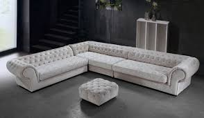 Tufted Sectional Sofas Micro Fiber Sectional Sofa And Ottoman Connecticut 2 969 00