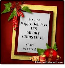 it s not happy holidays its merry to agree