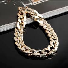 gold chain collar necklace images Thick gold chain collar statement necklace bracelet anklet jewelry jpg