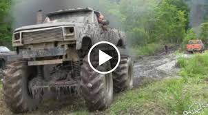 monster truck in mud videos mega trucks go powerline mudding busted knuckle films