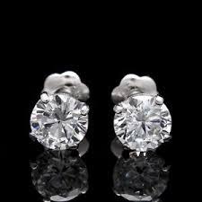 moissanite earrings 1 ct moissanite earrings ebay