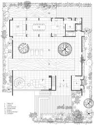 modern house plans courtyard