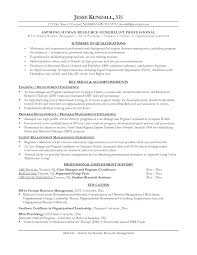 Best Resume Samples For Hr by 100 Functional Resume Template Human Resources Hr Manager