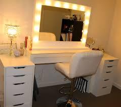 Makeup Vanity Mirror With Lights Vanity Desk With Lights And Mirror Home Design Ideas Diy Vanity