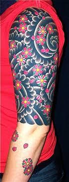 kiku cherry blossom half sleeve