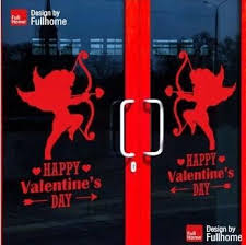 Valentine S Day Store Decoration by Cupid Dream Happy Valentine U0027s Day Wall Stickers Home Decoration