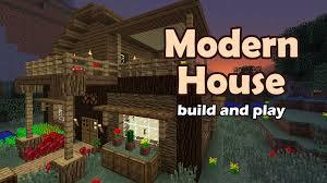 Modern House by Minecraft Modern House Tutorial Youtube
