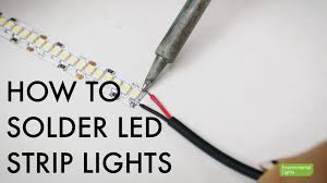 how to link led light strips how to solder led strip lights youtube