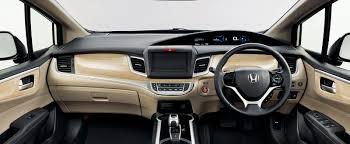 mpv car interior honda jade hybrid six seater mpv debuts in japan