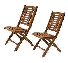 Folding Patio Chairs Eucalyptus Wood Folding Side Chair 2pk