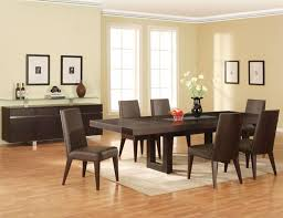 dining room espresso dining room furniture photo with white rug