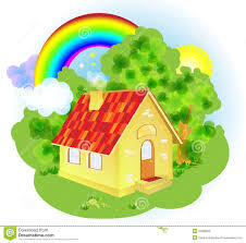 a cute cartoon fairytale house royalty free stock images image