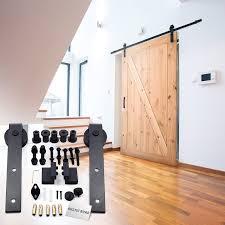 Sliding Barn Style Door by Amazon Com Rustic Road Barn Door Hardware Kit U0026 Track Sliding