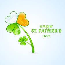 Images Of The Irish Flag Beautiful Shamrock Leaf In Irish Flag Colors On Blue Background