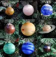 gorgeous blown glass solar system tree ornaments