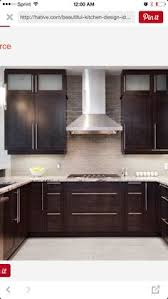 Kitchen Design Pictures Dark Cabinets Amazing Contemporary Kitchen Design With Espresso Stained Kitchen