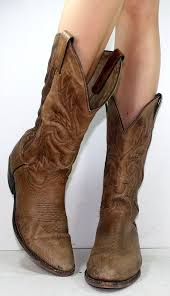 womens boots for cheap vintage cowboy brown low heel mid calf womens calf skin