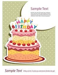 happy birthday card birthday cake stock vector colourbox