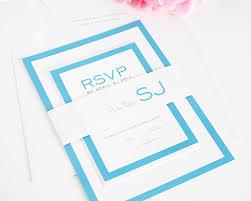Simple Wedding Invitation Card Designs Blue Wedding Invitations With Modern Monogram U2013 Wedding Invitations