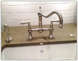 kitchen bridge faucet bridge kitchen faucets with side spray home design ideas