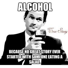 Salad Meme - because no greatstory ever startedwith someone eating a salad