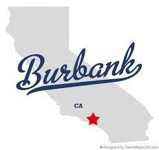 map of burbank ca map of burbank los angeles county ca california