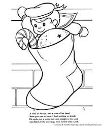 the night before christmas coloring pages he spake not a word