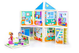 sets that invite families to build dollhouses and imagine