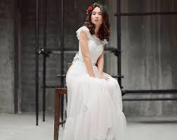 boho wedding dress icidora grey lace wedding